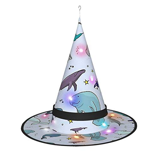 Fantastic Deal! Under The Sea Witch Hat Led Lights Halloween Decoration Party Carnival 5 Pcs