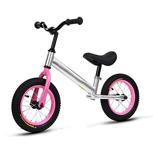 YumEIGE Loopfiets voor kinderen, 18,5-23,6 inch, zitting 11,8-17,7 inch, kinderloopfiets, luchtfiets, 2-7 jaar oud kinderloopfiets roze