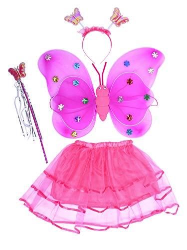 THEE LED Ailes de Papillon 4pcs Costume de Papillon Lumineux...