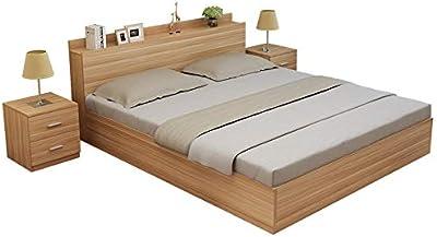 ZHIC モダンなミニマリストスラブベッド1.2 m、1.5 m、1.8 m、ダブルベッド、畳ベッド、ハイボックス収納ベッド収納ベッド (Color : White, Size : 1800mm*2000mm+)