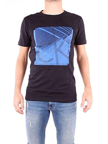 Calvin Klein Herren Tradon Slim CN Tee SS T-Shirt, Ck Black, Large