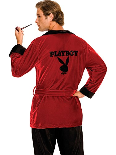 Secret Wishes Men's Playboy Smoking Jacket, As Shown, Standard