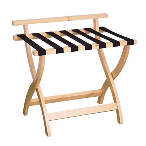 LIXUDECO Luggage Rack Luggage rack Luggage Rack, Hotel Home Solid Wood Folding Luggage Rack, Travel Rest Stool, Wood Color 27.6 * 18.5 * 26.8 Inches For Bedroom