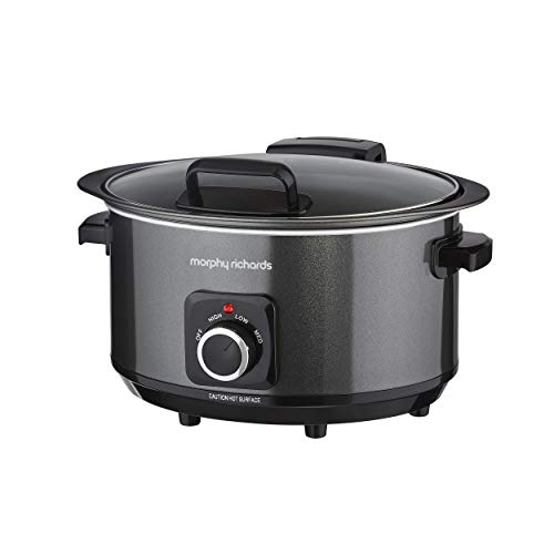 Morphy Richards 460020 3.5L Slow Cooker with Hinged Lid, 163 W, Black