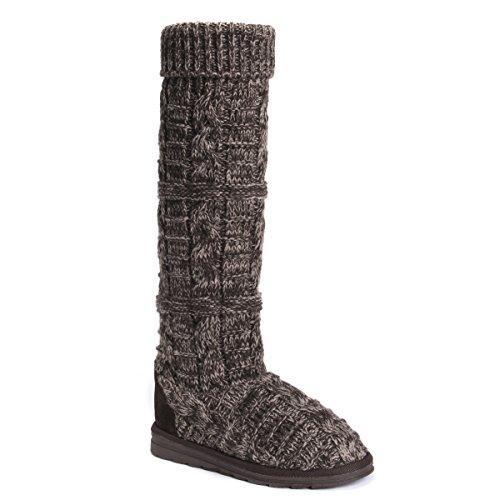 MUK LUKS Damen Women's Shelly Boot-Brown modischer Stiefel, Coffee, 36 EU
