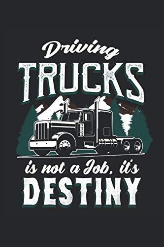 Driving Trucks Is Not A Job, It's Destiny: Lkw-Fahrer Lastwagen fahren ist Schicksal Geschenke für Lastwagenfahrer Notizbuch oder Tagebuch (liniert, 15,24 x 22,86 cm, 120 Seiten)