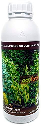 CULTIVERS Fertilizante Líquido para Coníferas y Setos Ecológico de 1 L. Abono 100% Orgánico y Natural. Evita Enfermedades, Arbustos vigorosos, Follaje mas Verde