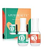 2 in 1 Dip Powder Base & Top Coat with Activator Dip Powder Liquid Set for Dipping Powder Nail Kit,0.5oz/Bottle,Fast Dry,No Nail Lamp Needed
