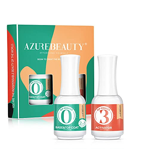 2 in 1 Dip Powder Base & Top Coat with Activator...