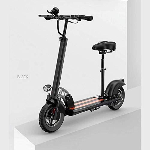 Elektrische fietsen, 10 inch, 36 V, 500 W, max. Snelheid 40 km/u lichte opvouwbare elektrische step voor volwassenen zwart