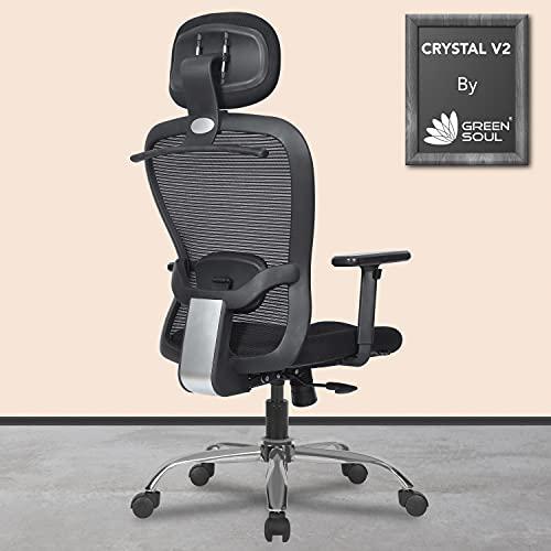 Green Soul® Crystal V2 High-Back Mesh Office Executive Ergonomic Chair (Black)