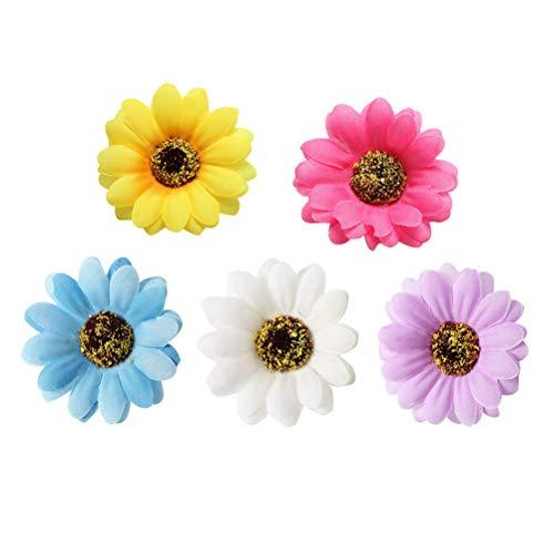 Lurrose Lot de 10 barrettes à cheveux pour fille Motif fleurs de bohème
