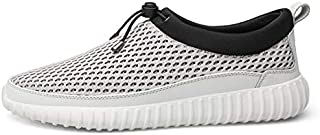 ZUAN Acrobatic Shoes for Men Sports Shoes Slip On Style Mesh Material Fresh and Breathable Low Top Elastic Strap Decor Cycle Toe