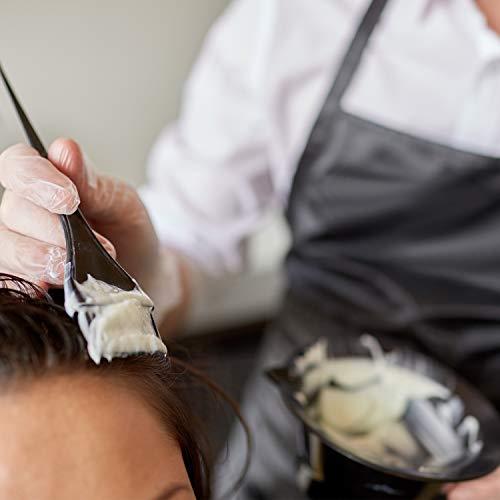 20 Pieces Hair Dye Coloring Kit, Hair Tinting Bowl, Dye Brush, Ear Cover, Gloves for DIY Salon Hair Coloring Bleaching Hair Dryers Hair Dye Tools (14.8 x 4.8 cm, Small Black Bowl Style)