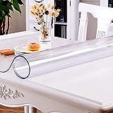 Alfombrilla de escritorio transparente, antideslizante, resistente al calor, resistente al agua, PVC, 100 x 50 cm