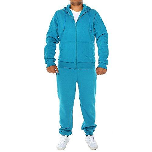 ArizonaShopping - Jogginganzüge Herren Basic Jogginganzug H1101, Größen:S, Farben:Hellblau