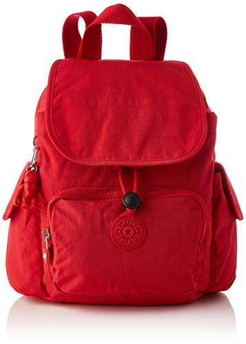 Kipling City Pack Mini, Zaino Casual Donna, Red Rouge, One Size