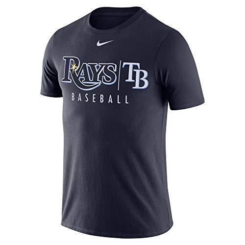 Nike Men's Tampa Bay Rays MLB Practice T-Shirt - Navy (Large)