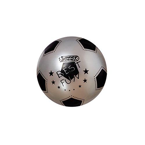Best Sporting PVC-Ball Fun, 23 cm, Fußball Spielball Beachball Wasserball, Silber
