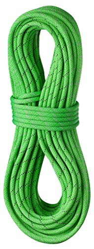 EDELRID Tommy Caldwell DuoTec 96mm Pro Dry Dynamic Climbing Rope  Neon Green 60m