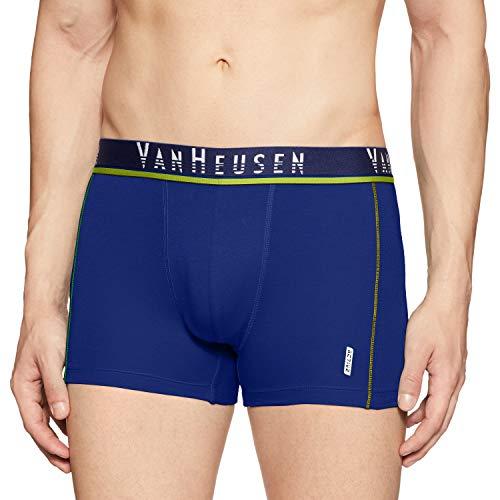 Van Heusen Men's Quick Dry Cotton Trunks (40044_Medium Blue_L)