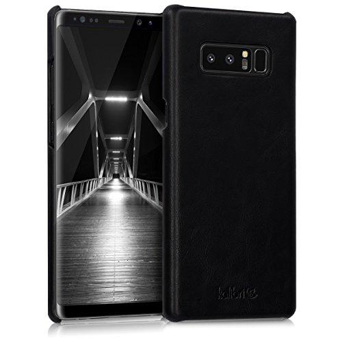 kalibri Hülle kompatibel mit Samsung Galaxy Note 8 DUOS - Leder Handy Cover Hülle - Hardcover Schutzhülle Schwarz