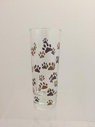 Hand Painted Animal Paw Print Shot Glass
