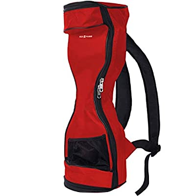 """Waterproof Backpack to Carry/Store Your Drifting Board (Two Wheels Smart Balance Board Scooter Electric Self Smart Drifting Board) - Carry Handle for 7"""" Wheels and max. 23.5"""" Long - Red"""