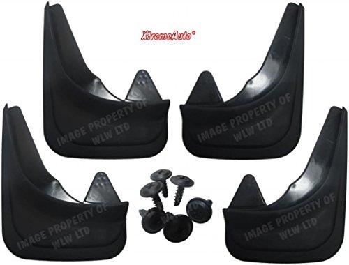 XtremeAuto® Universal-Schmutzfänger für vorne und hinten, mit Laptopaufkleber, schwarz - XAMudflaps1