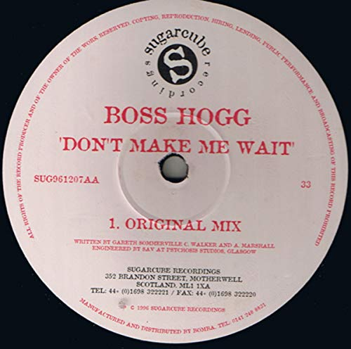 Don't Make Me Wait [Vinyl Single 12'']