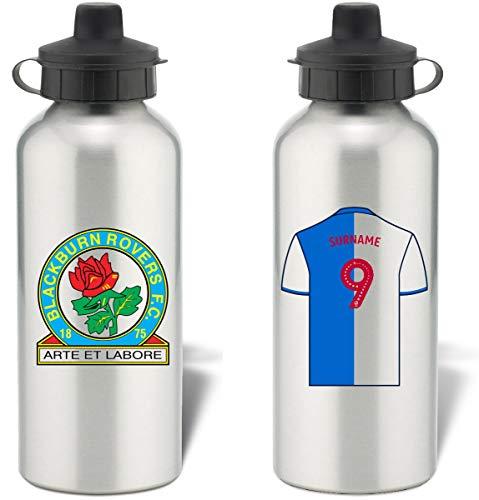 Blackburn Personalisierbare Trinkflasche aus Aluminium Rovers FC, Silber