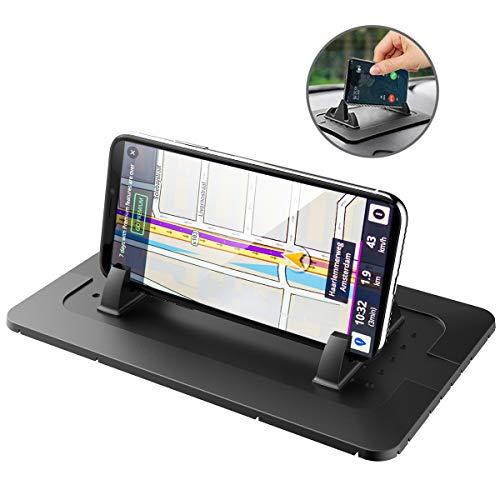 Daite Tappetino per Telefono Cellulare in Silicone per cruscotto per iPhone X/8/7/6/5 Plus Tablet per Samsung S8/S7/S6 Tutti Smartphone NAV GPS (Nero)