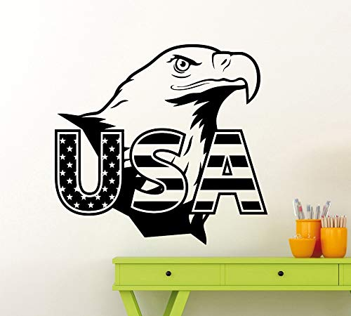 Wopiaol Afneembare Eagle USA Vlag Muursticker American symbool Vinyl sticker Home Room Interior Hoogwaardige muurschildering Home Decor Decal