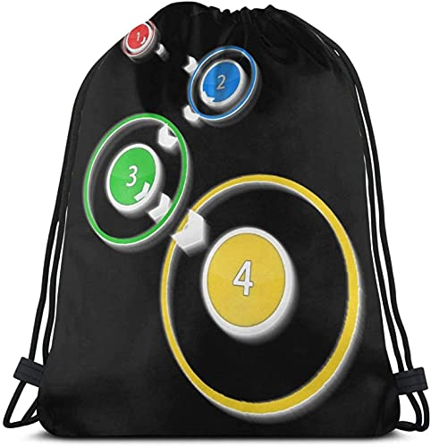 XCNGG Osu - Click The Circles Mochila con cordón Paquete de saco de gimnasio Paquete de cincha sólido Saco Sinch Bolsa de deporte con bolsillo Bolsa de playa Regalo para hombres y mujeres
