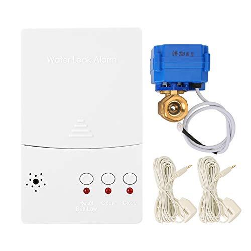 DN15 Automatische waterlekdetector met automatische uitschakeling, intelligente watersensor met led-alarmwaarschuwing voor wasmachineaansluitingen, waterlekken zoeken, bescherming tegen overstromingen EU.