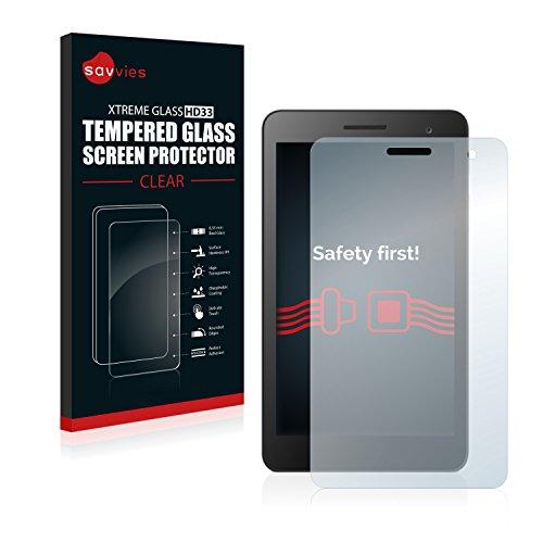 Savvies Panzerglas kompatibel mit Huawei MediaPad T1 7.0 - Echt-Glas, 9H Festigkeit, Anti-Fingerprint