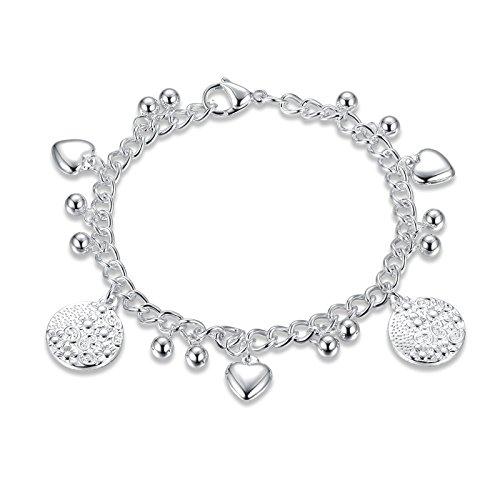 Adisaer Armband Frauen Silber Armband Frauen Herz Hochzeit Keltisch Herz Kugel Rund Band Amulett Armband Armkette Für Liebe