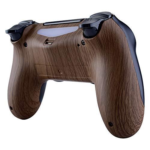 eXtremeRate Unten Shell Rückseite Gehäuse Schutzhülle Ersatz Teile Playstation 4PS4Slim Pro Controller jdm-040, jdm-050jdm-055, Wood Grain
