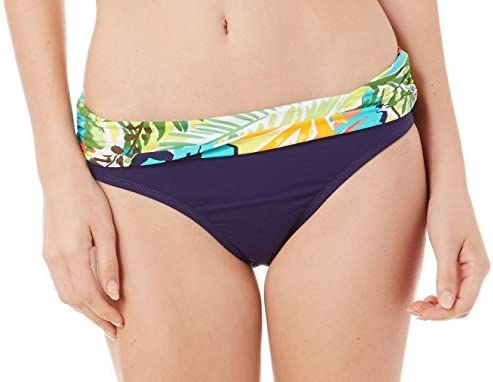 Anne Cole Women's Island Time Printed Fold-Over Hipster Bikini Bottoms