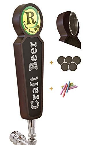 Grote houten Chalkboard Tap Handgrepen voor Kegerator Bar Restaurant Brouwerij Craft Bier Tap Handvat Label Display voor alle bier-liefhebbers (donker)