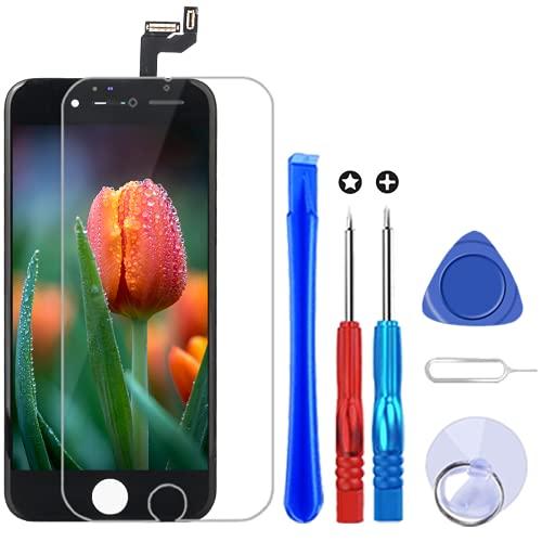 Brinonac Pantalla para iPhone 6s Plus, 5.5' Táctil LCD de Repuesto Ensamblaje de Marco Digitalizador con Herramienta de reparación y Protector de Pantalla (Negro)