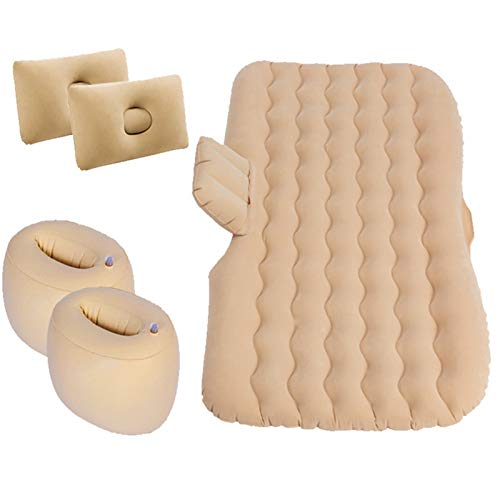 Automobile Air Gonfiabile Materasso Materasso Letto SUV Materasso per Auto Materasso Auto Sleeping Pad Outdoor Camping Mat Air Cushion Letto per Bambini (Color Name : Beige)