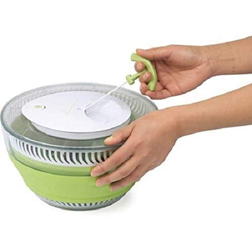 Spinner per verdure e insalata, Spinner per insalata pieghevole multiuso Essiccatore per insalata, Spinner per verdure Spinner per insalata secca, Insalatiera salvaspazio Verdura manuale