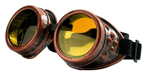 4sold (TM) Steam Punk Antique Copper Cyber Goggles Rave Goth Vintage...