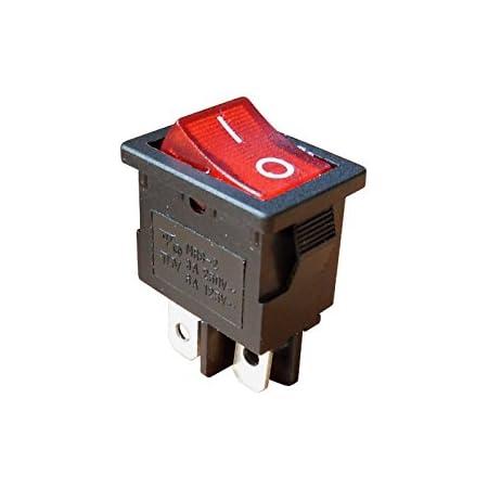 Wittkoware Kontroll Wippenschalter 29x11mm 1 Polig Ein Aus 15a 250v Rot Schutzkappe Baumarkt