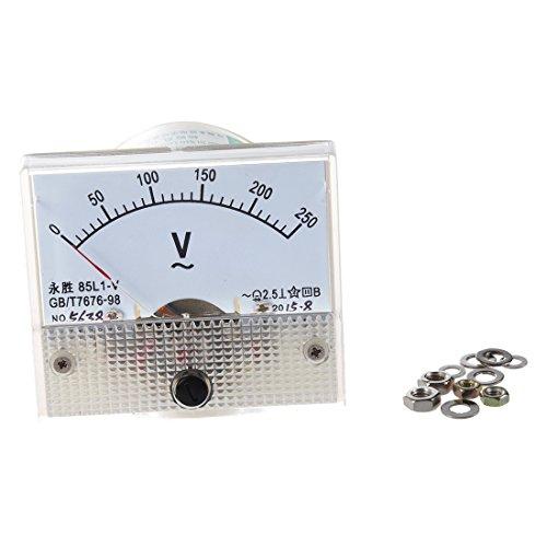 SODIAL(R) Voltimetro Analogico Rectangulo 85L1 CA 0-250V