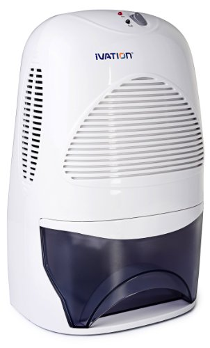 Ivation IVADM35 Powerful Mid-Size Thermo-Electric Dehumidifier - Quietly Gathers Up To 20 Ounces of Water Per Day - for Bath Room, Basement, Attic, Boats, Rv Ect - for Spaces Up To 2,200 Cubic Feet (Certified Refurbished)