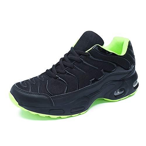 Pattrily Zapatos deportivos para correr de los hombres Negro Air Cushion Mesh Casual, negro (forro polar verde con licencia oficial de star wars silent one crew.), 41 EU