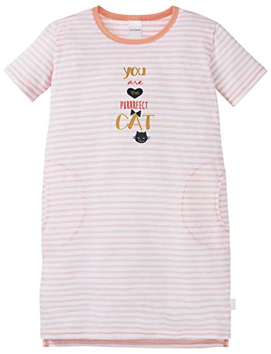 Schiesser Mädchen Cat Zoe 1/2 Nachthemd, Rot (Rosé 506), (Herstellergröße: 104)