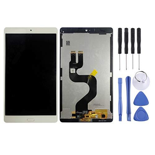 H-HX Display Reparaturset, LCD-Display und Digitizer Vollversammlung for Huawei MediaPad M3 8,4 Zoll/YIBTV-W09 / BTV-DL09 (weiß) (Color : White)